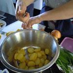 Kartoffeln für den Salat