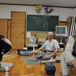 竹細工を通して50年ぶりに同級生に再会も果たした。