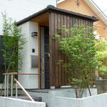玄関前の植栽