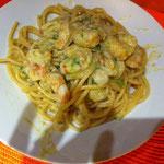 Spaghettoni al gambero