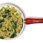 Fusilli con spinaci e zucchinetta