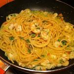 Spaghetti al gambero rosa