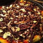 Pizza radicchio e funghi