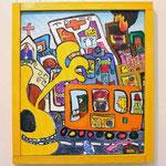『まちNo3 バスで出発』Oil painting F10  530×455     Copyright ©2009 U-1 `s nezumi13 All Rights Reserved.