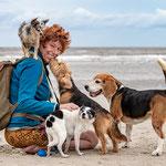 Sophie Strodtbeck mit ihren Hunden-Fotografie Annett Mirsberger