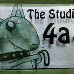 Printmaking studio sign
