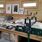 Printmaking workbench
