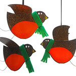 3D Christmas Robin Greeting Cards