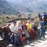 De overige passagiers van de vlucht Kathmandu-Lukla