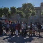 Permanence mobile / Réunion de place des Insoumis de la 12ème circonscription de la Gironde. Blasimon, 25 mai 2017