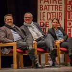 Pascal Lafargue, Jean-Marie Darmian, les Dupont-Dupont de la Solidarité, en compagnie de Naïma Charaï. #benoithamon2017