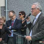 Jean-Marie Darmian, Maire de Créon, Vice-président du Conseil général de la Gironde. Inauguration du gîte d'étape de Citon-Cénac. 01/10/2010