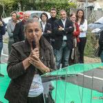 Martine Faure, Députée de la Gironde, s'adresse à l'auditoire sans aucune note. Inauguration du gîte d'étape de Citon-Cénac. 01/10/2010