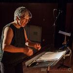"""Nathalie Aubin, chef de cœur des Choraleurs, répétition de """"Carmen in swing"""", Targon, 27 novembre 2016"""