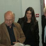 L'architecte présente son projet à Philippe Madrelle. Inauguration du gîte d'étape de Citon-Cénac. 01/10/2010
