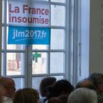 La France insoumise au second tour des élections législatives 2017. Rassemblement de la gauche, Mairie de Créon, 14 juin 2017