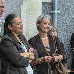 Olivier Lamothe, Martien Faure, Simone Ferrer, Isabelle Girard, responsable de la communication de la CDC des Portes de l'Entre-Deux-Mers. Inauguration du gîte d'étape de Citon-Cénac. 01/10/2010