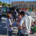 Réunion de place des Insoumis de la 12ème circonscription de la Gironde. Blasimon, 25 mai 2017