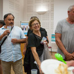 Verre de l'amitié autour du Rassemblement de la Gauche autour de Christophe Miqueu. 14 juin 2017, Créon