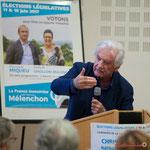 Soutien de Philippe Madrelle, Président honoraire du Conseil départemental de la Gironde. Rassemblement de la gauche, Mairie de Créon, 14 juin 2017