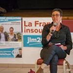 Nathalie Chollon-Dulong. Réunion publique des Insoumis de la 12ème circonscription, 6 juin 2017, Sadirac