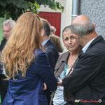 Cécil Clémenceau-Mazon, Chargée de Mission Développement Economique; Martine Faure, Députée de la Gironde; Inauguration du gîte d'étape de Citon-Cénac. 01/10/2010