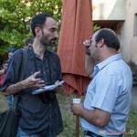 """Gabriel Blaise (Sud-Ouest) interviewe Christophe Miqueu et titre son article paru le 21 juin """"Christophe Miqueu, la défaite en chantant"""". Langoiran 18 juin 2017"""