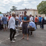 Permanence mobile / Réunion de place la France insoumise à Saint-Macaire le 9 juin 2017