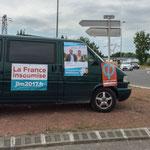 Tractage des Insoumis de la 12ème au rond-point de Latresne, 15 juin 2017