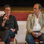 Nathalie Chollon-Dulong, Christophe Miqueu. Réunion publique des Insoumis de la 12ème circonscription, 6 juin 2017, Sadirac