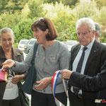 Martine Faure, Michelle Cazanove, Philippe Madrelle, Bernard Cuartero. Gîte d'étape de Citon-Cénac. 01/10/2010