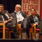 Jean-Marie Darmian (au centre), ancien rocardien, se retrouve 30 ans en arrière de ses luttes militantes, il boit du petit lait à l'écoute de Benoît Hamon. #benoithamon2017