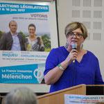 Soutien de Catherine Veyssy, Vice-présidente du Conseil régional, Maire de Cénac. Rassemblement de la gauche, Mairie de Créon, 14 juin 2017