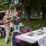 Maryse Chatrix, Christophe Miqueu, Raymond Blet. Pique-nique des Insoumis de la 12ème circonscription de la Gironde, 4 juin 2017, Esplanade Josselin, le Tourne