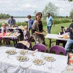 Maryse Chatrix et Christophe Miqueu et les Insoumis de la 12ème circonscription de la Gironde, 4 juin 2017, Esplanade Josselin, le Tourne