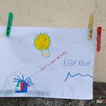 Dessin d'enfant, contre les pesticides classés C.M.R. auprès de l'école de Saint-Genès-de-Lombaud. 15 juin 2017