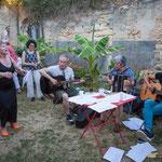 Nathalie Aubin et Jean Foussat libèrent les chants partisans à la gloire des travailleurs, des luttes sociales, en français, en espagnol...Langoiran, 18 juin 2017