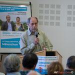 """Intervention de Raymond Blet, citoyen, """"Pourquoi j'ai rejoint les Insoumis"""". Rassemblement de la gauche, Mairie de Créon, 14 juin 2017"""