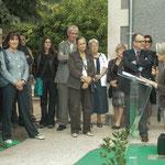 Simone Ferrer, Maire de Cénac. Inauguration du gîte d'étape de Citon-Cénac. 01/10/2010