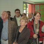 Les élu-es de la Communauté de Communes des Portes de l'Entre-Deux-Mers se sont déplacés en nombre. (A droite Colette Scott, présidente de la CDC du Vallon de l'Artolie, Guy Trupin, Conseiller général honoraire).   Gîte d'étape de Citon-Cénac. 01/10/2010