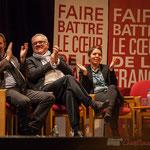 Applaudissements chaleureux de Pascal Lafargue, Jean-Marie Darmian, Naïma Charaï. #benoithamon2017