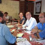 Xavier Sota (Sud-Ouest) interviewe Loïc Prud'homme et Thiphaine Maurin, les deux candidats aux législatives de la France insoumise de la 3ème circonscription de la Gironde. Bordeaux, 13 juin 2017