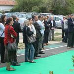 Les élu-es du Pays Cœur Entre-Deux-Mers et des Communauté de Communes. Inauguration du gîte d'étape de Citon-Cénac. 01/10/2010