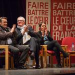 Applaudissements de Pascal Lafargue, Jean-Marie Darmian, Naïma Charaï. #benoithamon2017