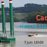 Invitation pour Facebook, Péniche insoumise de la 12ème circonscription de Gironde, 7 juin 2017 au ponton d'escale de Cadillac.
