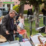 Franck Dijeau dirige le Big Band Jazz de l'école de musique de Cenon. Festival JAZZ360 2016, Cénac, 11/06/2016