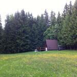 Blick auf die Finnhütte