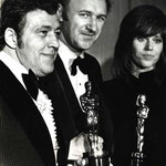 Philip D'Antoni, Gene Hackman, Jane Fonda. Oscar Night 1971