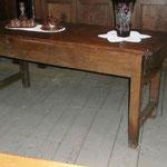 Table de ferme châtaignier plateau peuplier