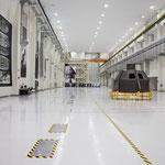 NASAの組み立て施設 米国は有人宇宙飛行再開まで5年以上かかる 撮影:山野孝之